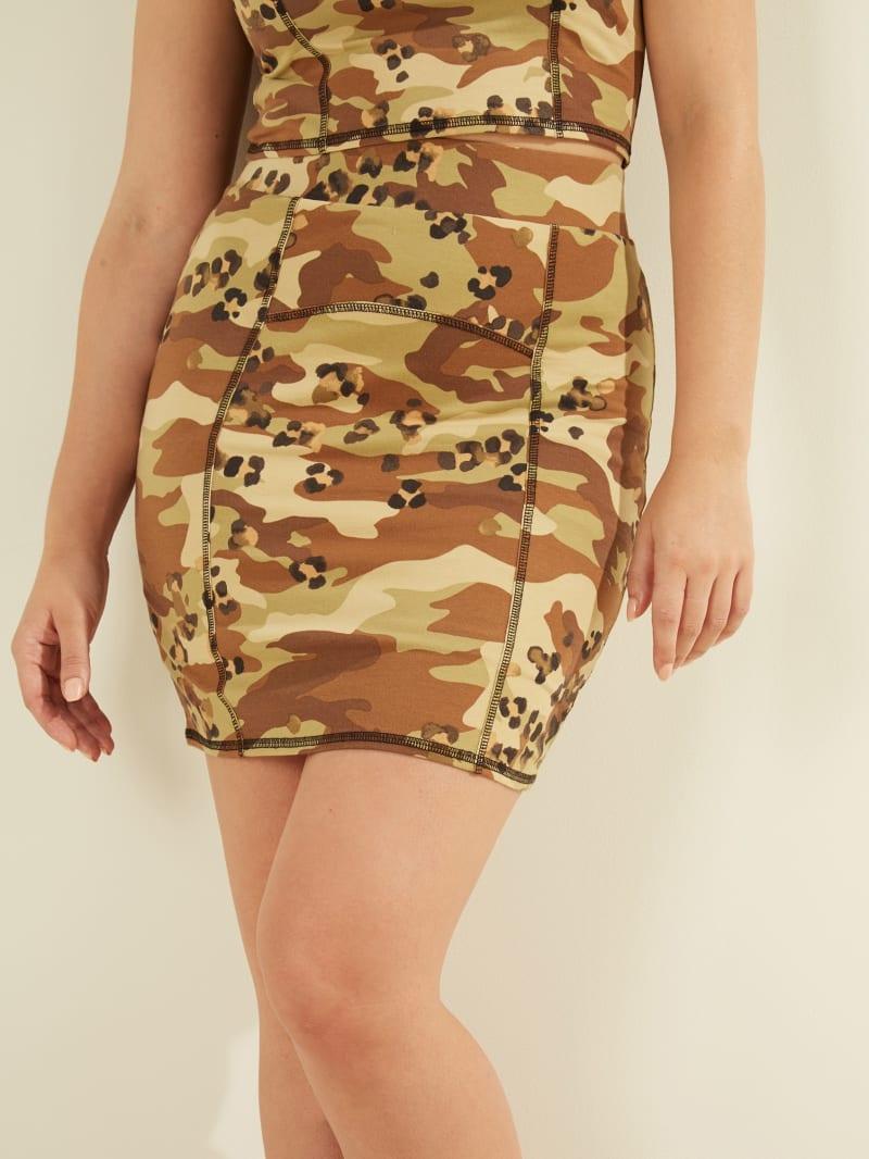 Skye Camo Mini Skirt