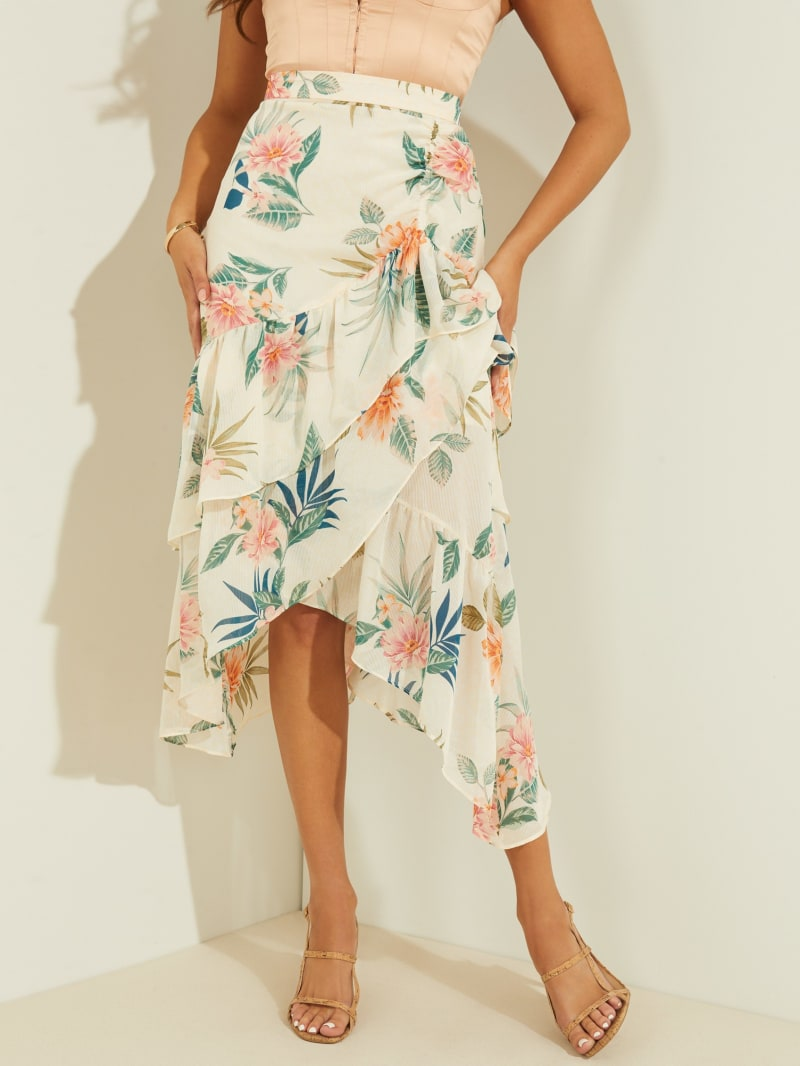 Maritza Ruffle Midi Skirt