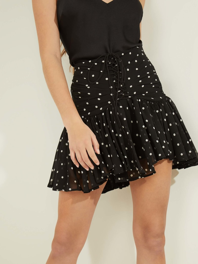 Lubia Lace-Up Skirt