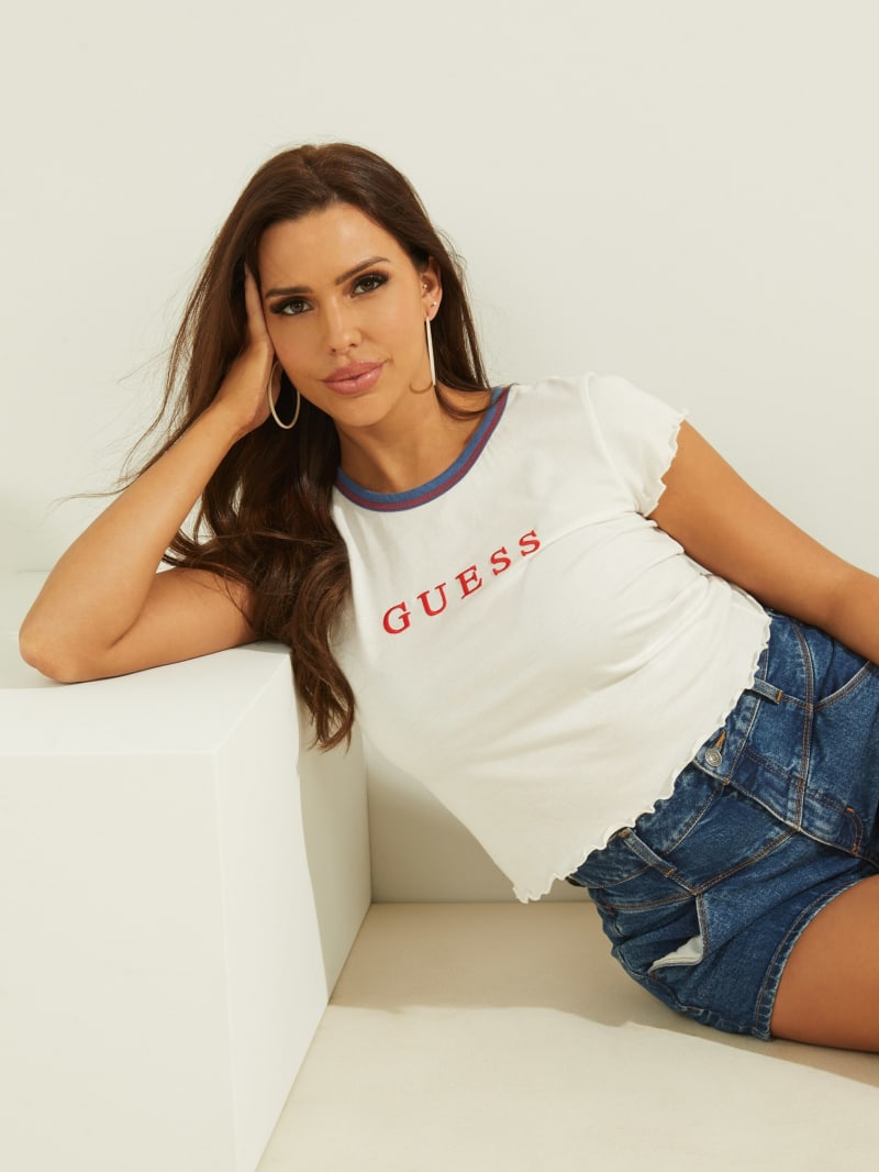 GUESS Lettuce-Edge Baby Tee