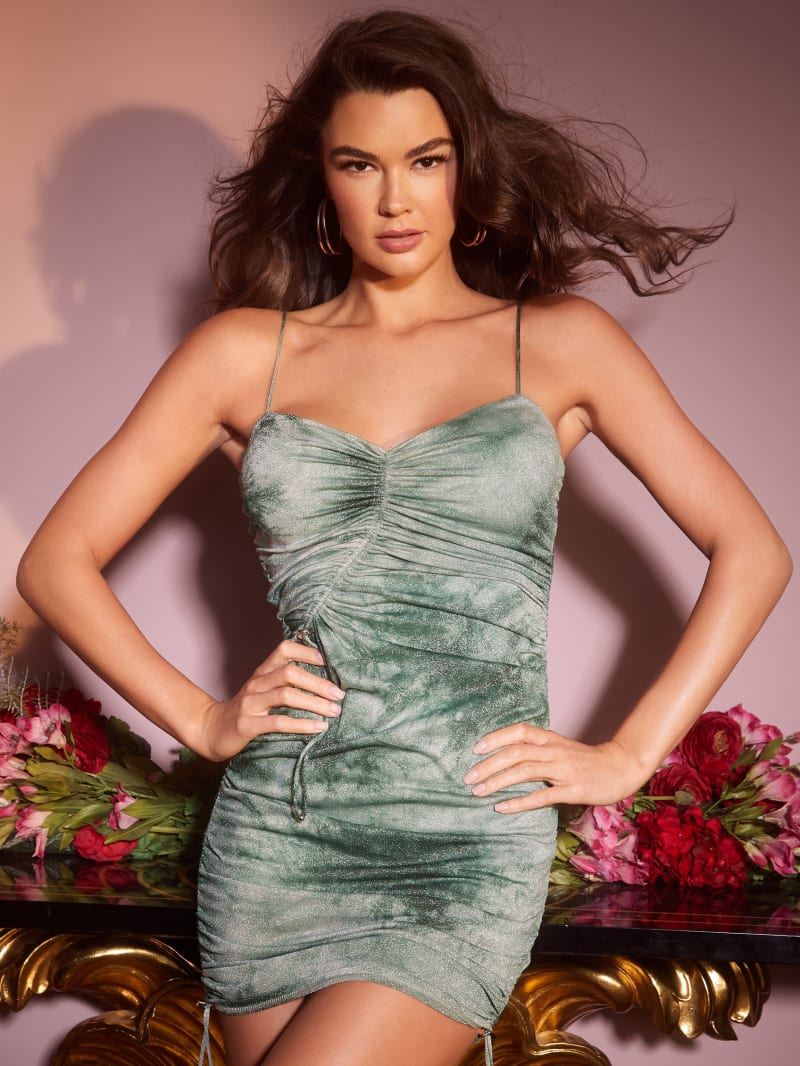 Kira Ruched Glimmer Dress