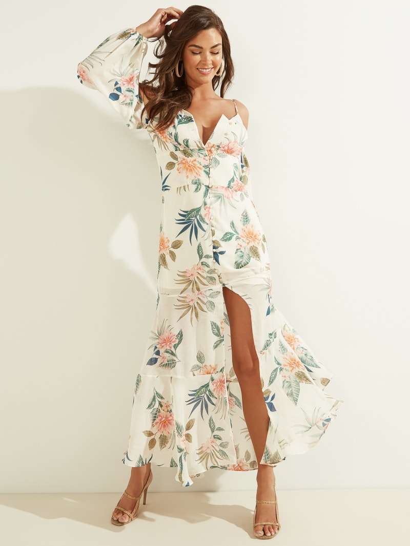 Lana Cold-Shoulder Maxi Dress