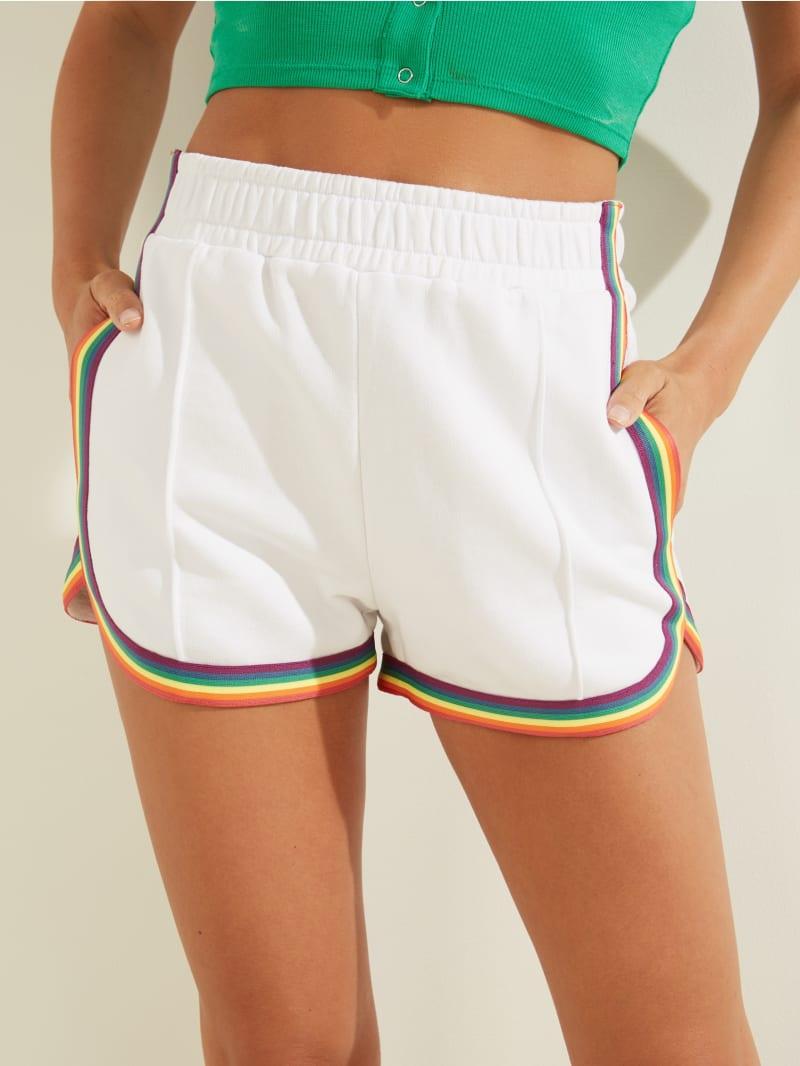 Rainbow Trim Shorts