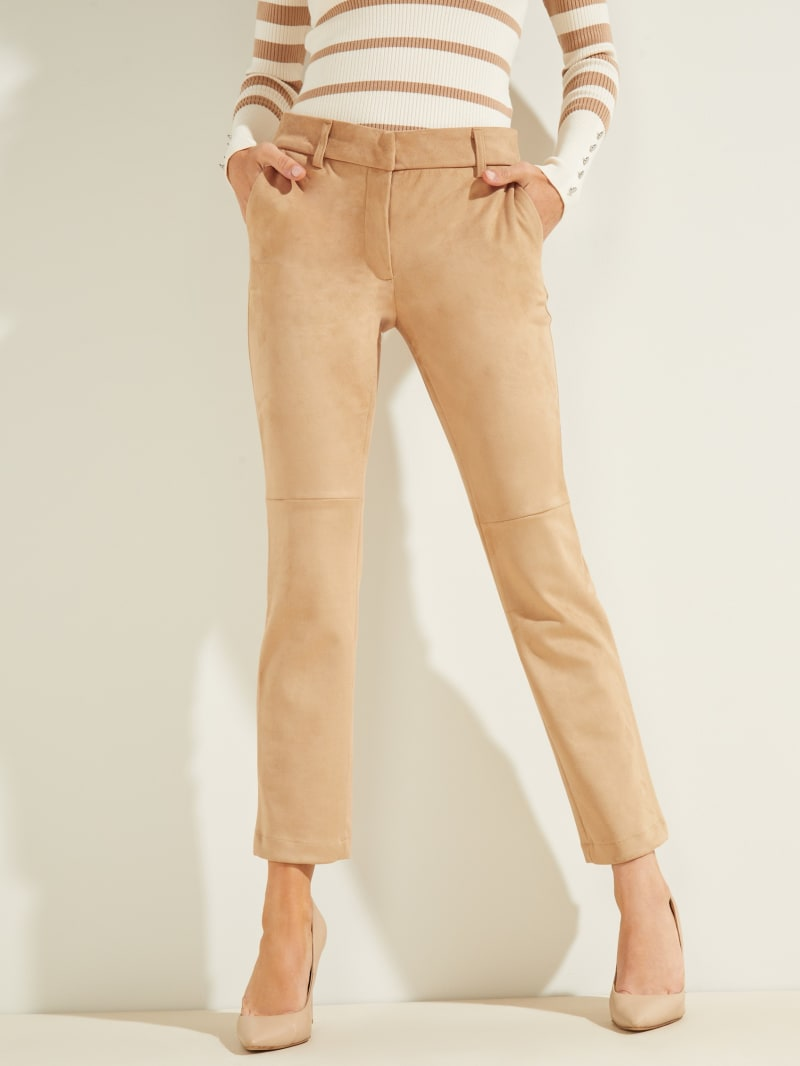Evelina Faux-Suede Pants