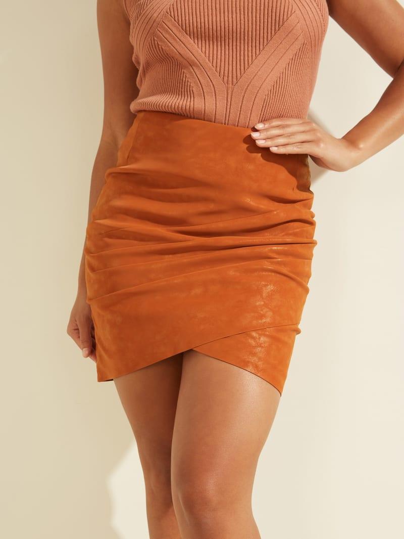 Rosalba Faux-Leather Skirt