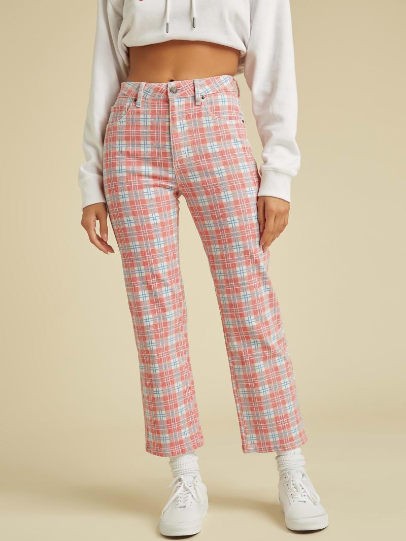 GUESS Originals Plaid Mom Jeans