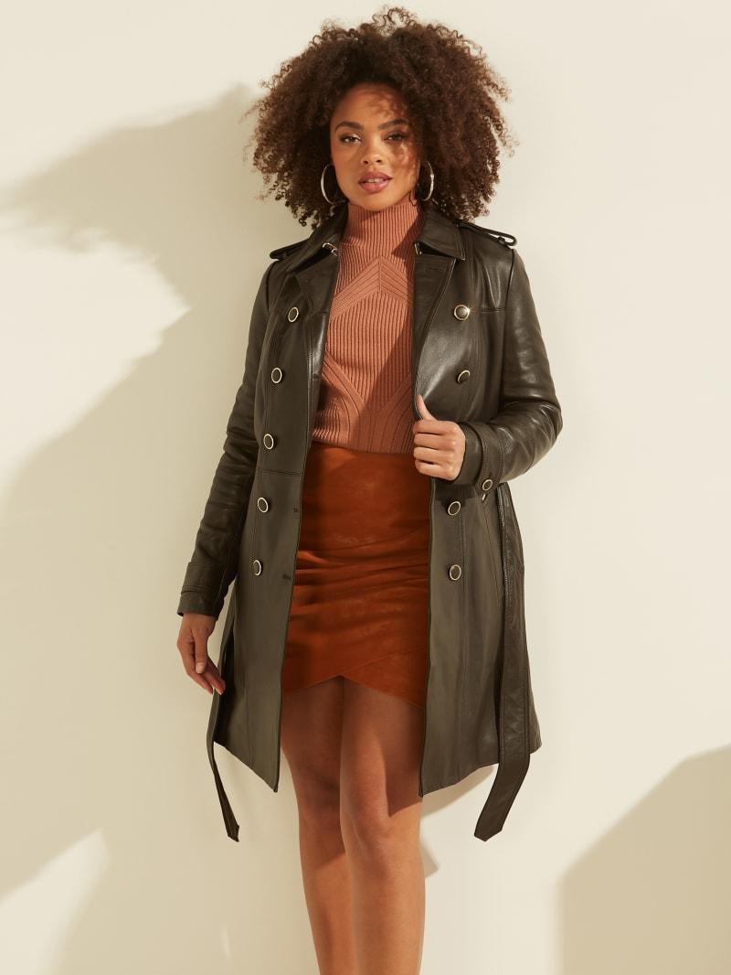 Felicia Leather Trench Coat