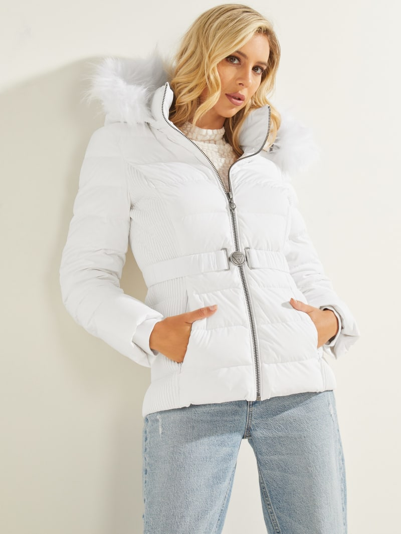 Eco Claudia Belted Down Puffer Jacket