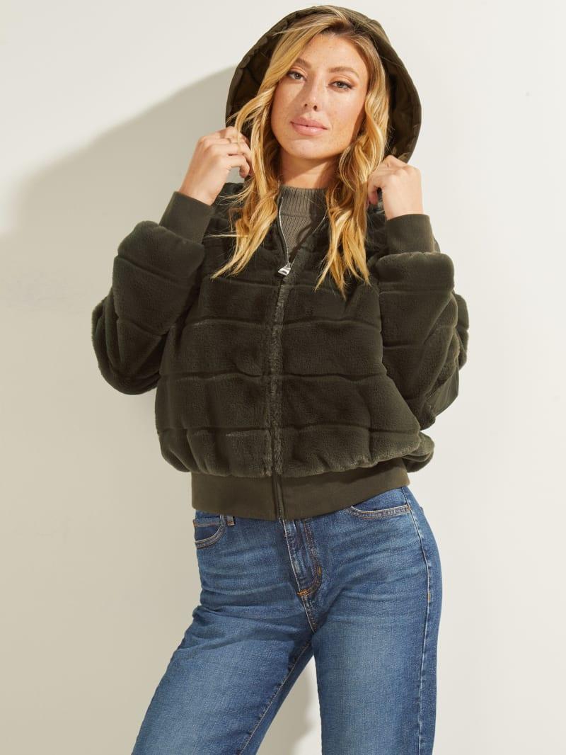 Felicia Faux-Fur Bomber Jacket