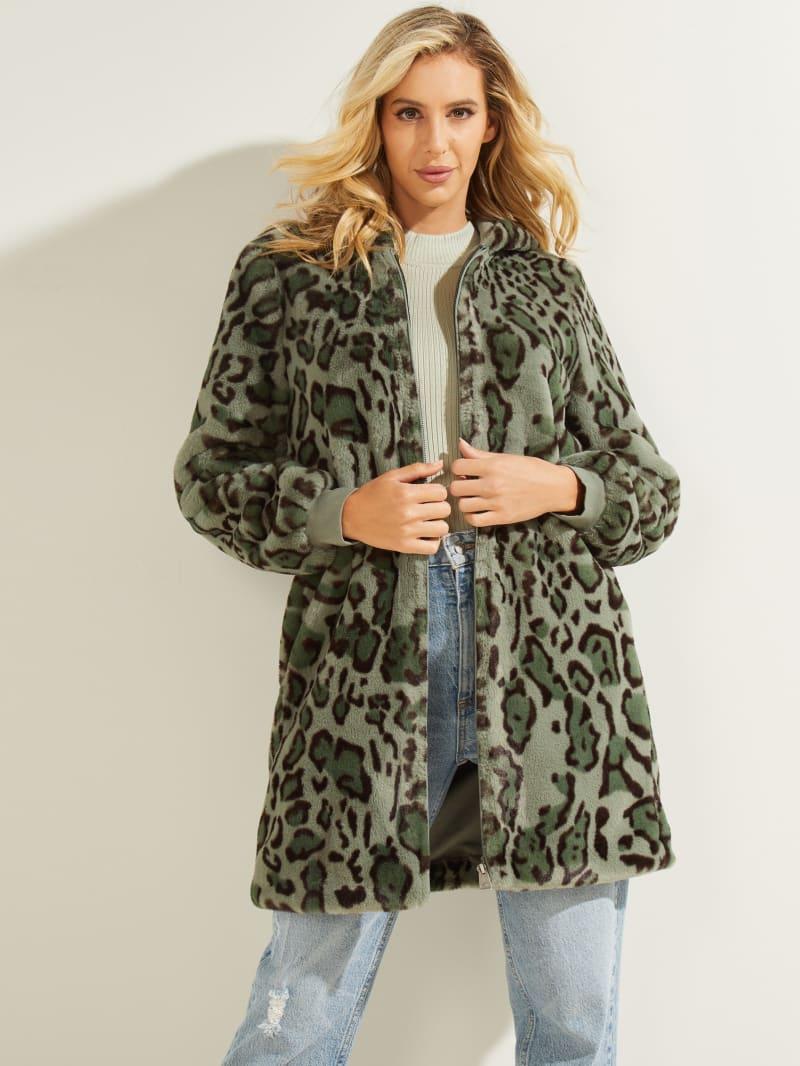 Fernanda Leopard Faux-Fur Coat