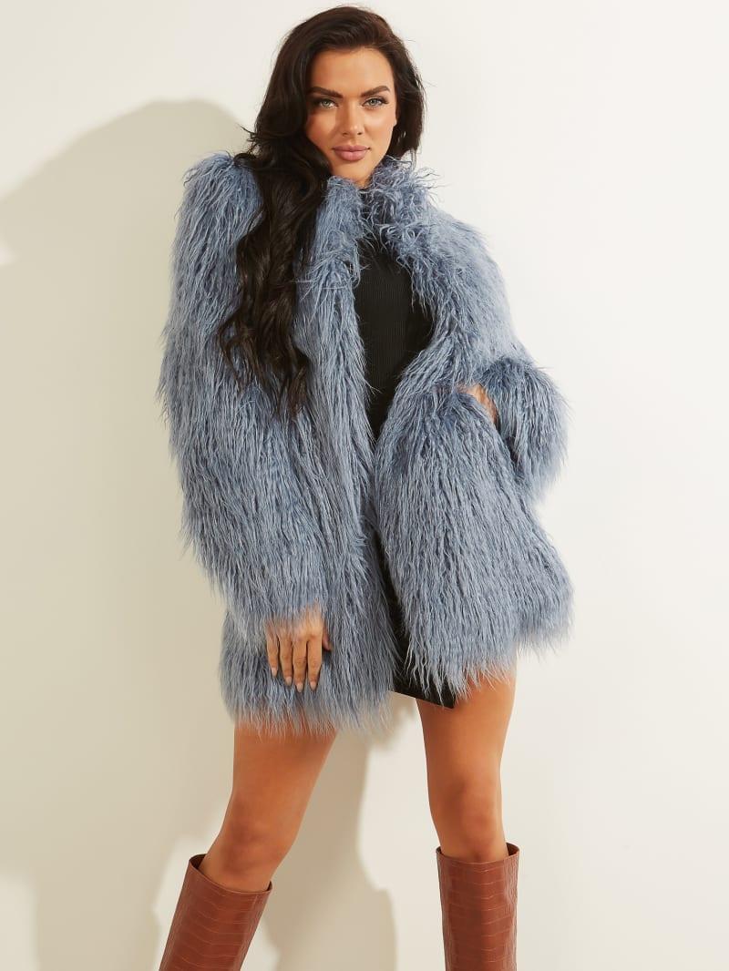Maurizia Shaggy Faux-Fur Coat