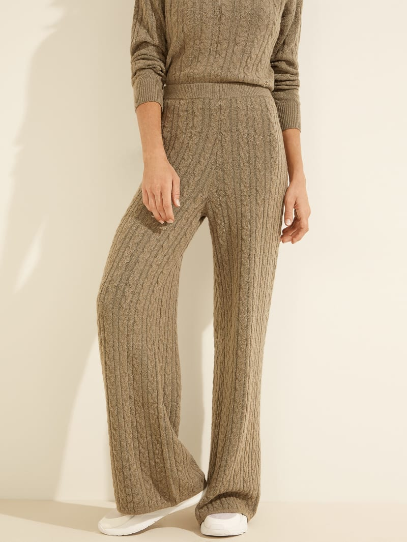 Tamara Wide-Leg Cable Pants