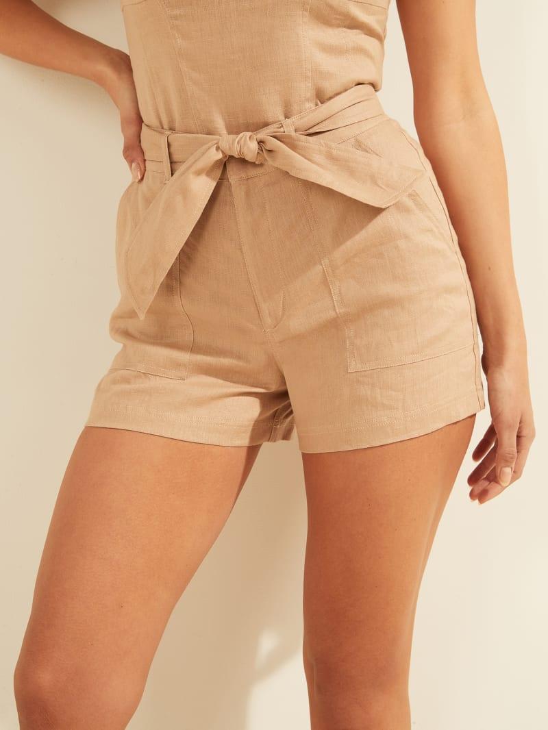Eco Brynn Linen Cargo Shorts