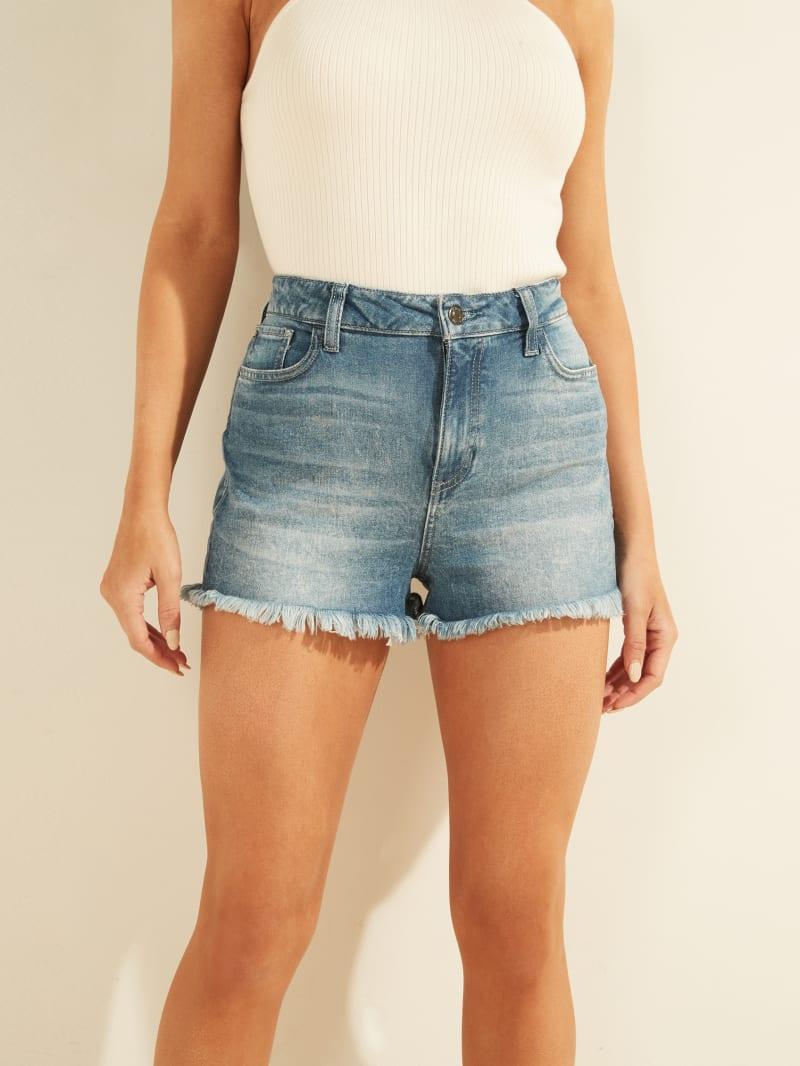 Claudia Frayed Denim Shorts