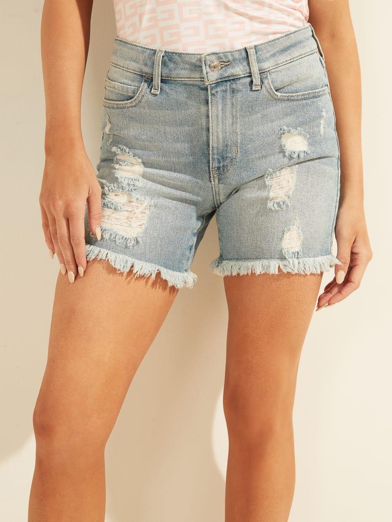 1981 Distressed Midi Shorts