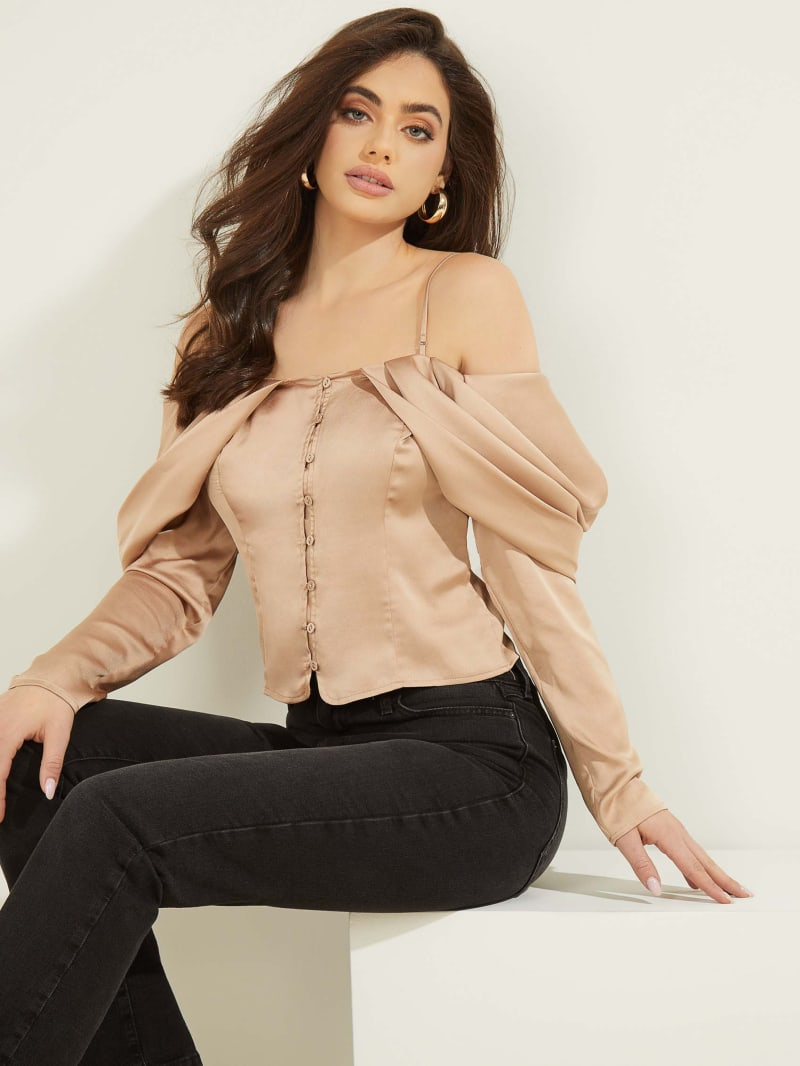 Eco Yessica Cold-Shoulder Top