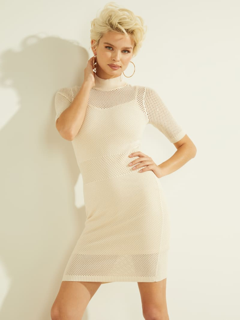 Lacey Mock-Neck Dress