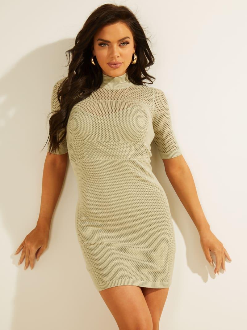 Lacey Mock-Neck Dress