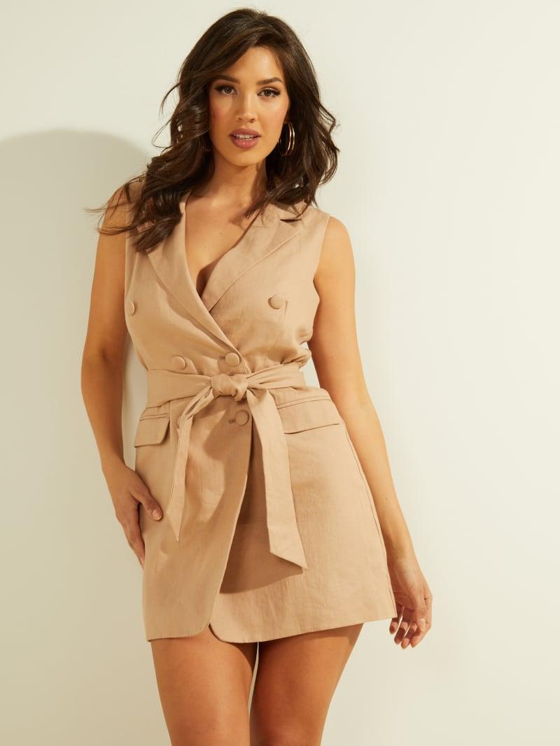 Kimmie Linen Blazer Dress