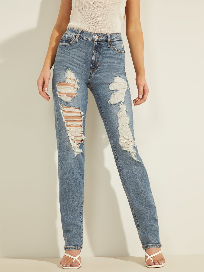 1981 Destroyed Straight Jeans
