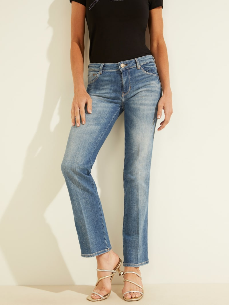Eco Sexy Straight Pleated Jeans