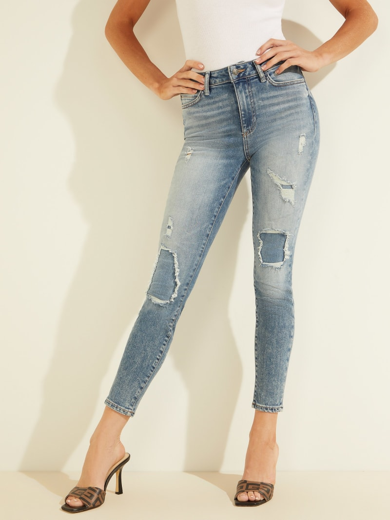 1981 Eco High-Rise Distressed Skinny Jeans
