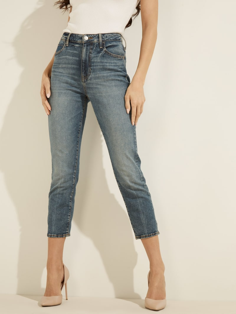 Cropped Slim Straight Jeans