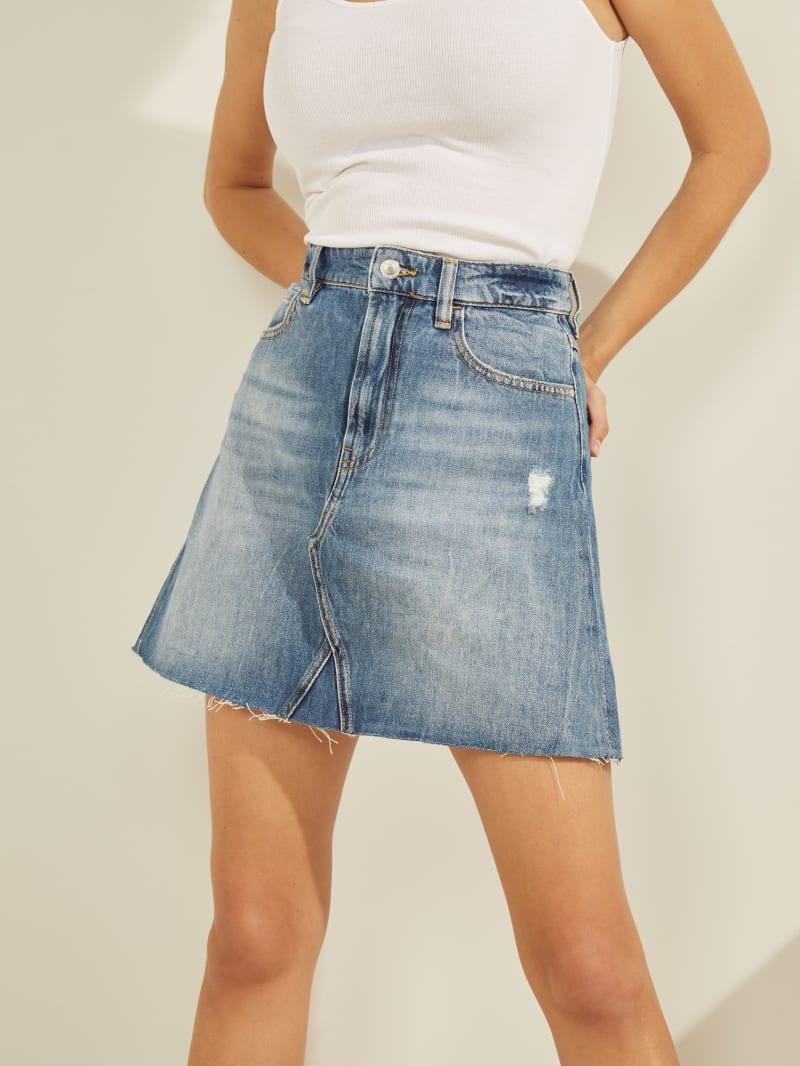 Syria Denim Mini Skirt
