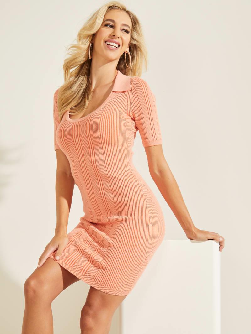 Shay Ribbed Polo Dress