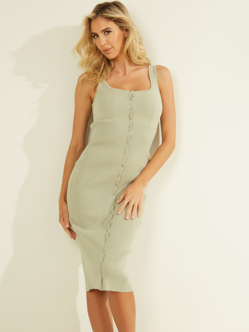 Lana Snap-Front Tank Dress