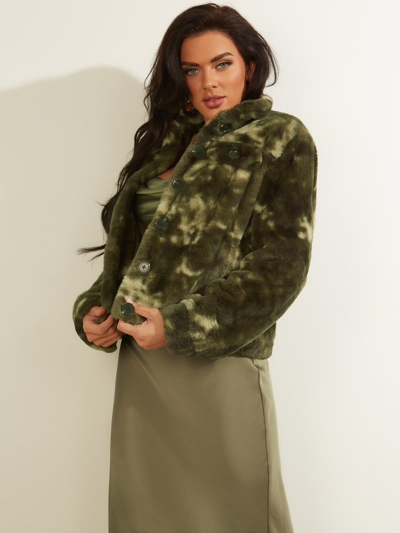 Rosy Faux-Fur Jacket