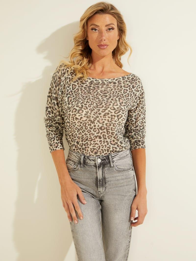 Ines Wool-Blend Leopard Sweater