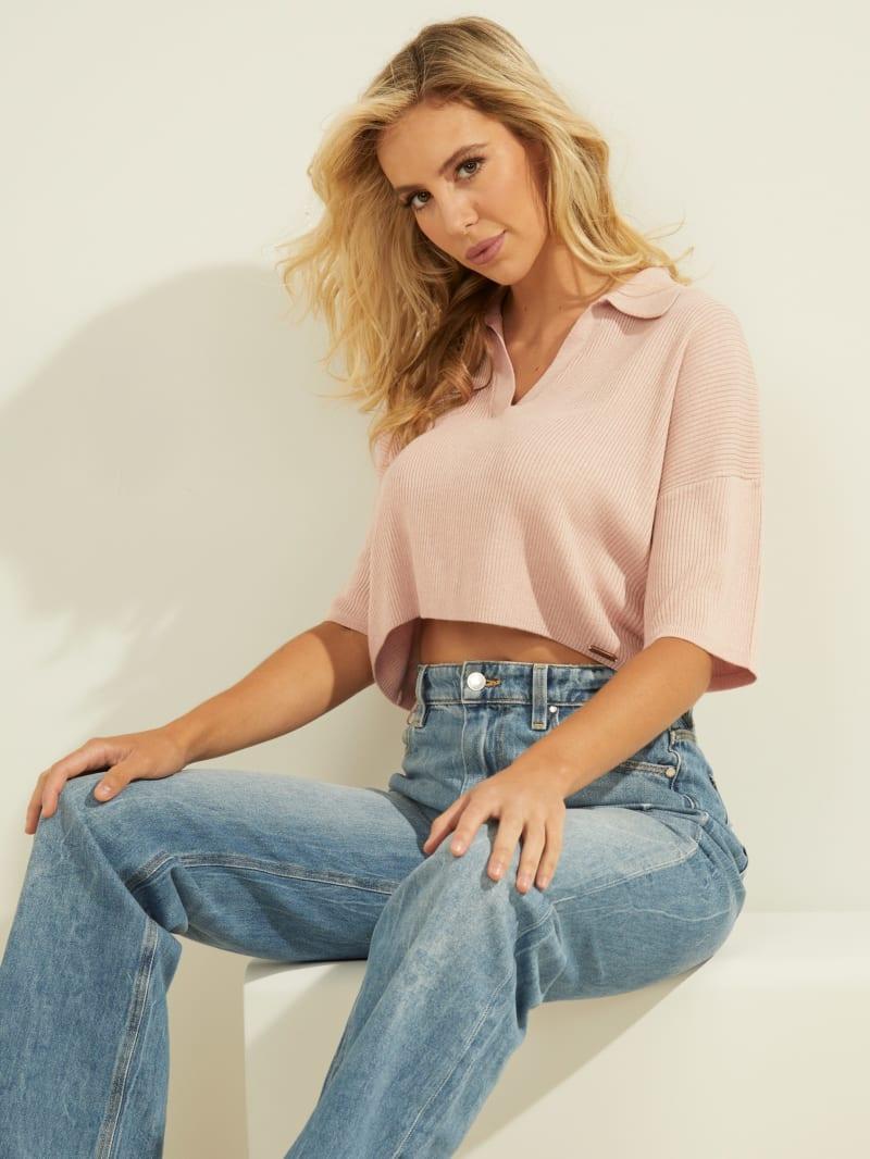 Charli Oversized Polo Sweater