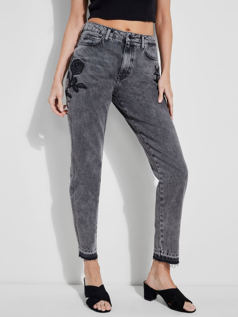 Nineties Patch-Embellished Straight Jeans
