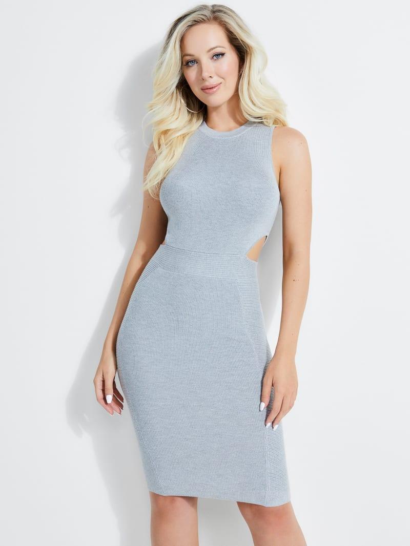 Allison Cutout Rib-Knit Dress