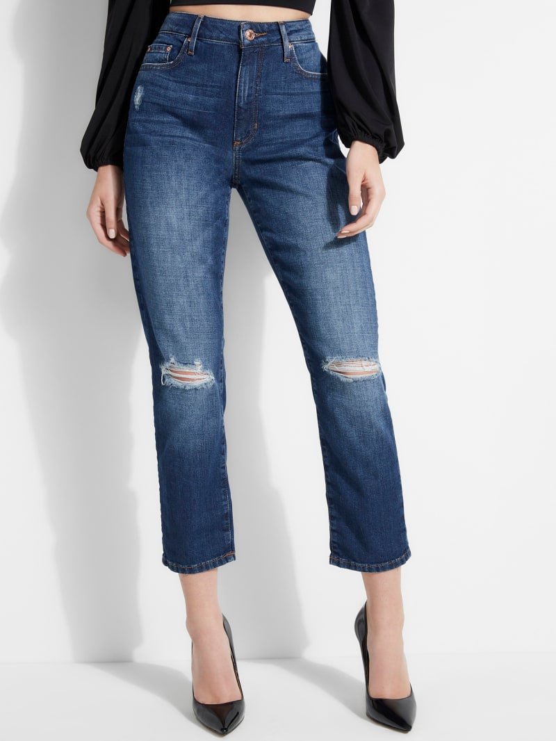 It Girl High-Rise Straight Jeans