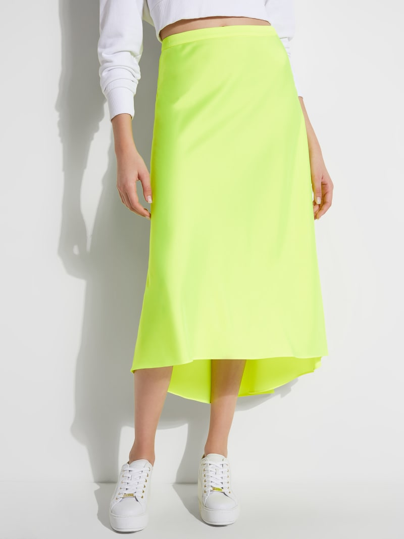 Kiely Satin High-Low Skirt