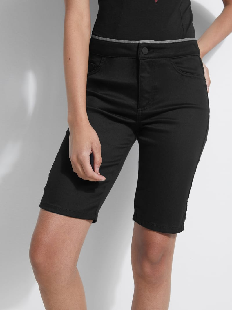 Nadia 1981 High-Rise Denim Biker Shorts