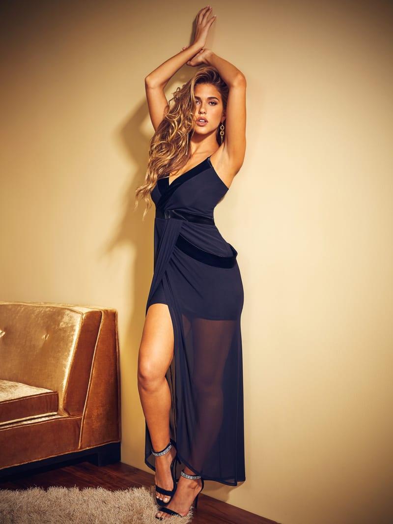 Natia Mesh Maxi Dress