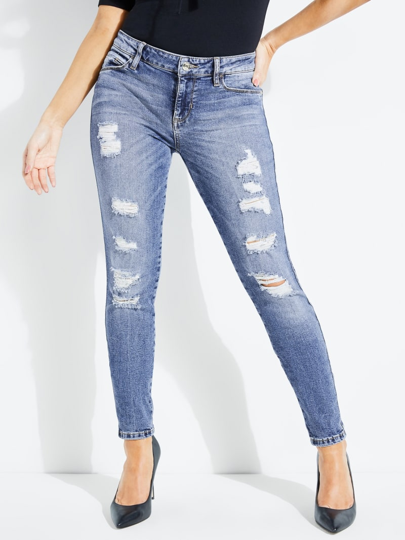Destroyed Sexy Curve Skinny Jeans