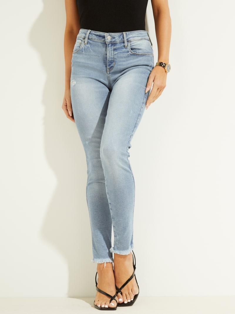 Eco Sexy Curve Raw Hem Skinny Jeans