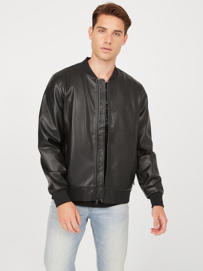 Brink Faux-Leather Bomber Jacket