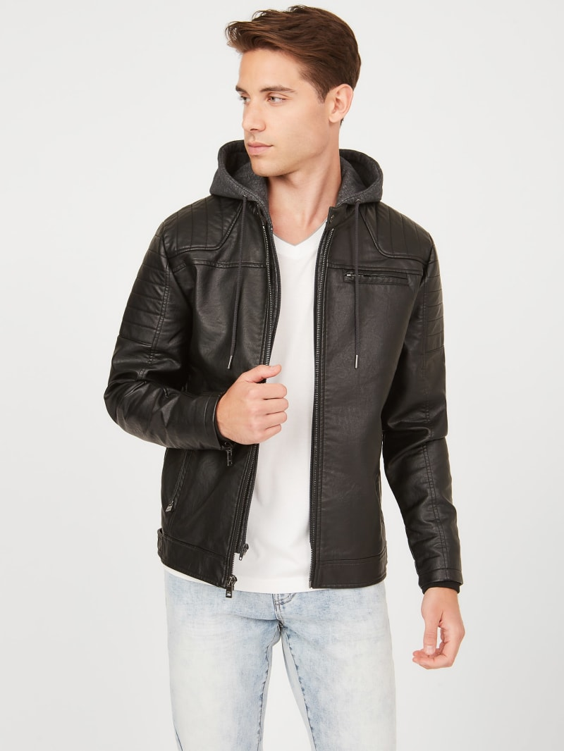 Dan Hooded Moto Jacket