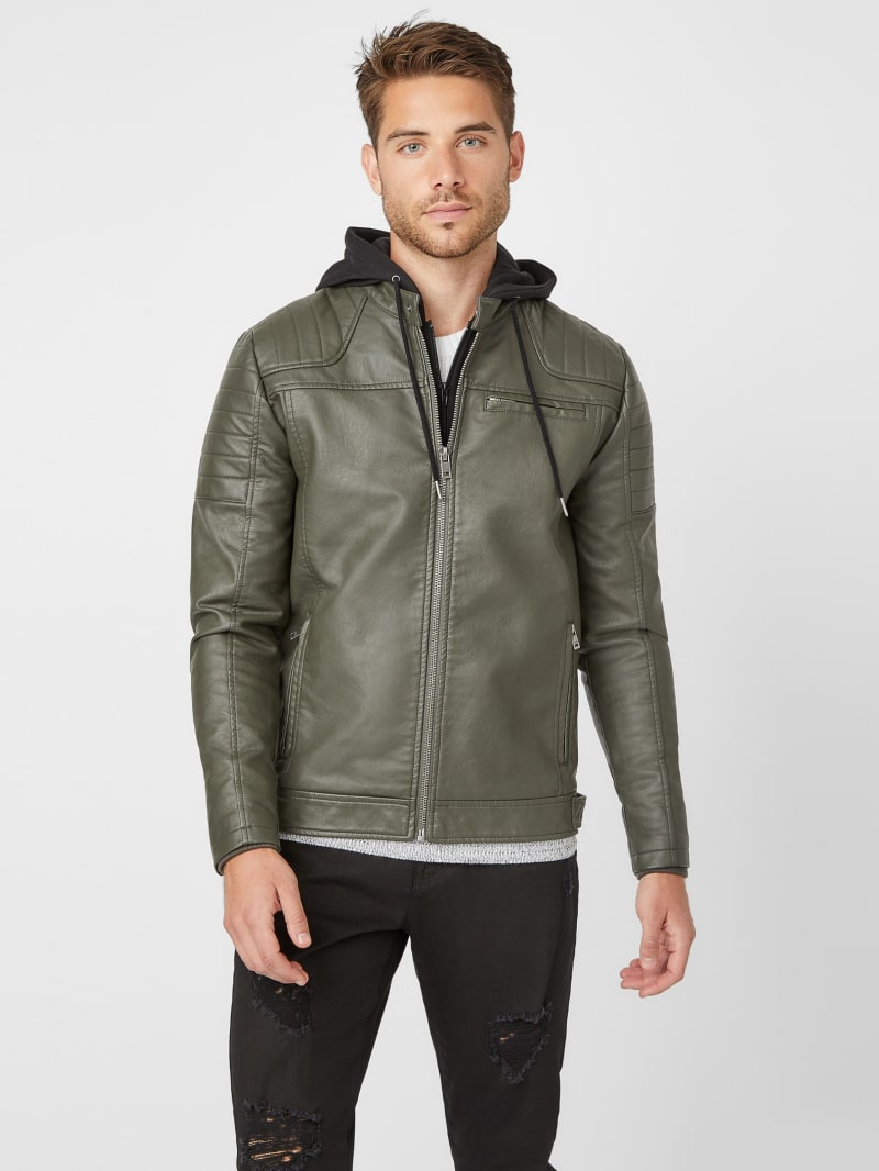 Dan Hooded Moto Jacket