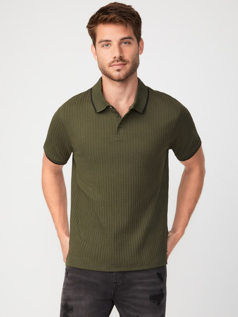 Omarion Ribbed Polo