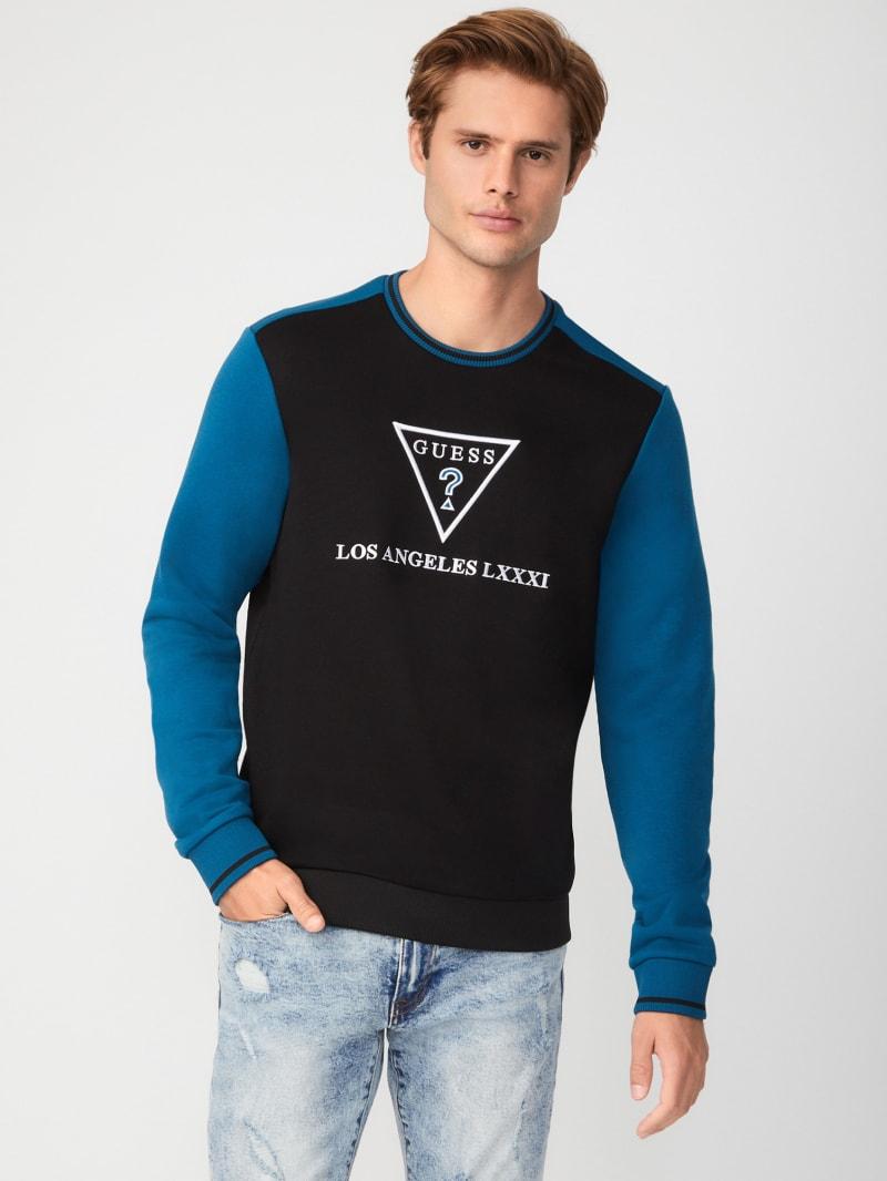 Ryler Color-Block Crewneck Sweater