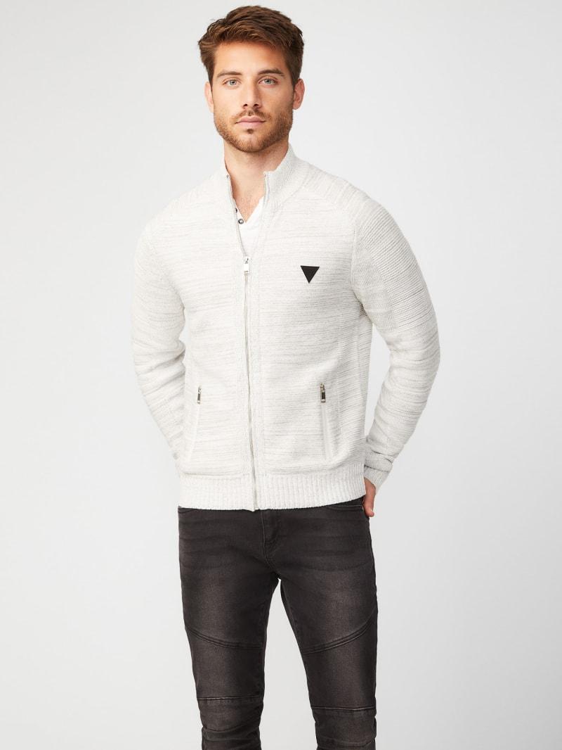 Charlie Marled Zip-Up Sweater
