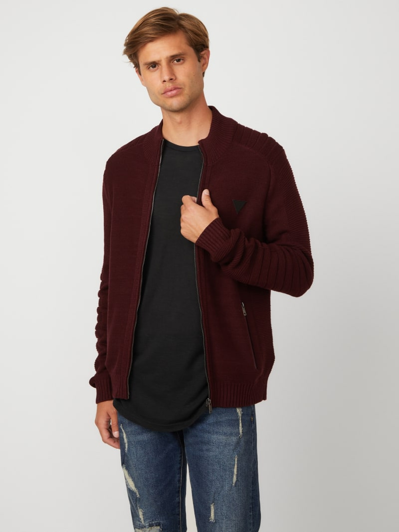 Charlie Solid Zip-Up Sweater
