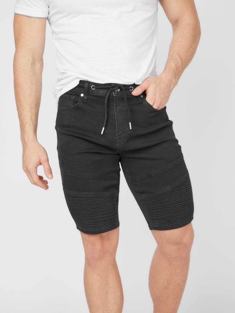 Bradley Moto Denim Shorts
