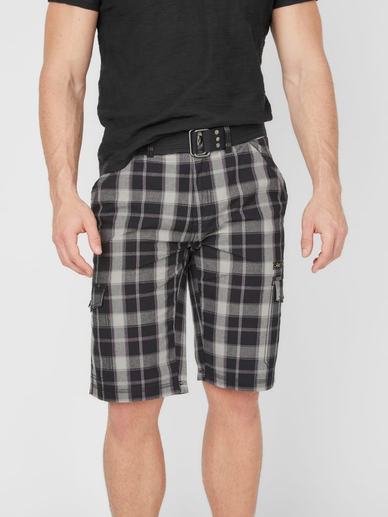 Brooks Plaid Cargo Shorts